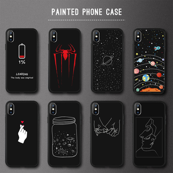 EKDME Soft Silicone Cover For iPhone X XR XS 7 8 Back Cover For iPhone XS Max 6 6s 7 8 Plus Painted TPU Phone Protective Fundas