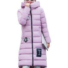 New Plus Size M-XXXL 2016 Women's Fashion Winter Warmth Long Parkas Slim Warm Cotton Casual Hooded Jacket Overcoat Coats