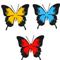 1PCS Butterfly Car Stickers 10CM*9CM  Cover Scratch Bumper Stickers Reflective Car Stickers Car Styling Decoration Accessories