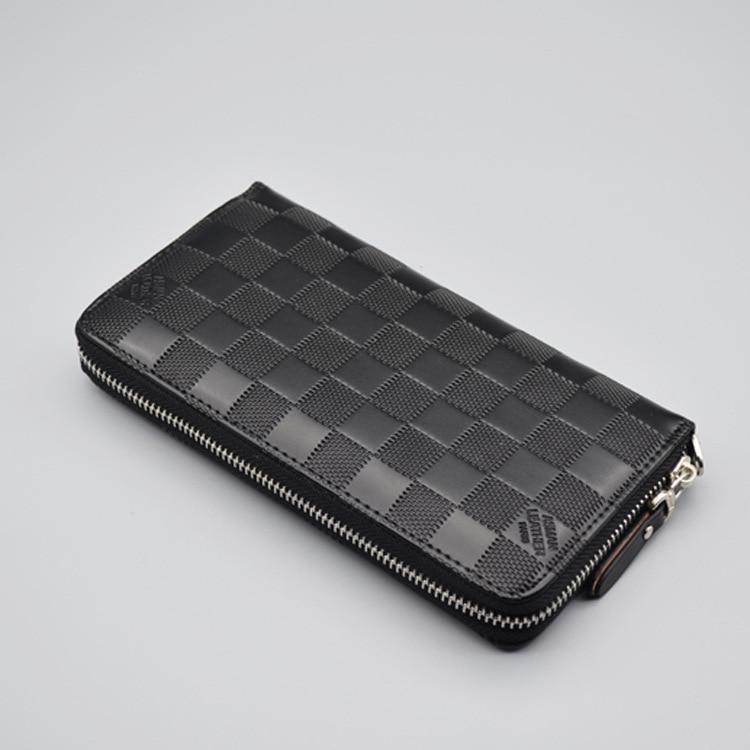 2016 Luxury Male Leather Purse Men's Clutch Wallets  Handy Bags Business Wallets Men Black Brown Blue