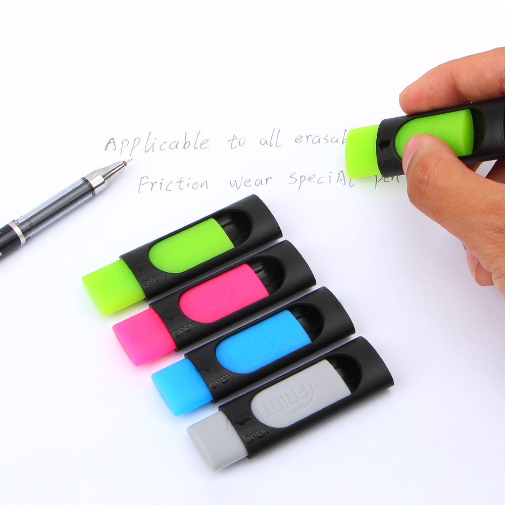 4pcs/lot Ink Eraser Friction Erasable Pen 50mm*20mm Rubber Eraser Creative Stationery For Kids Gift School Supplies