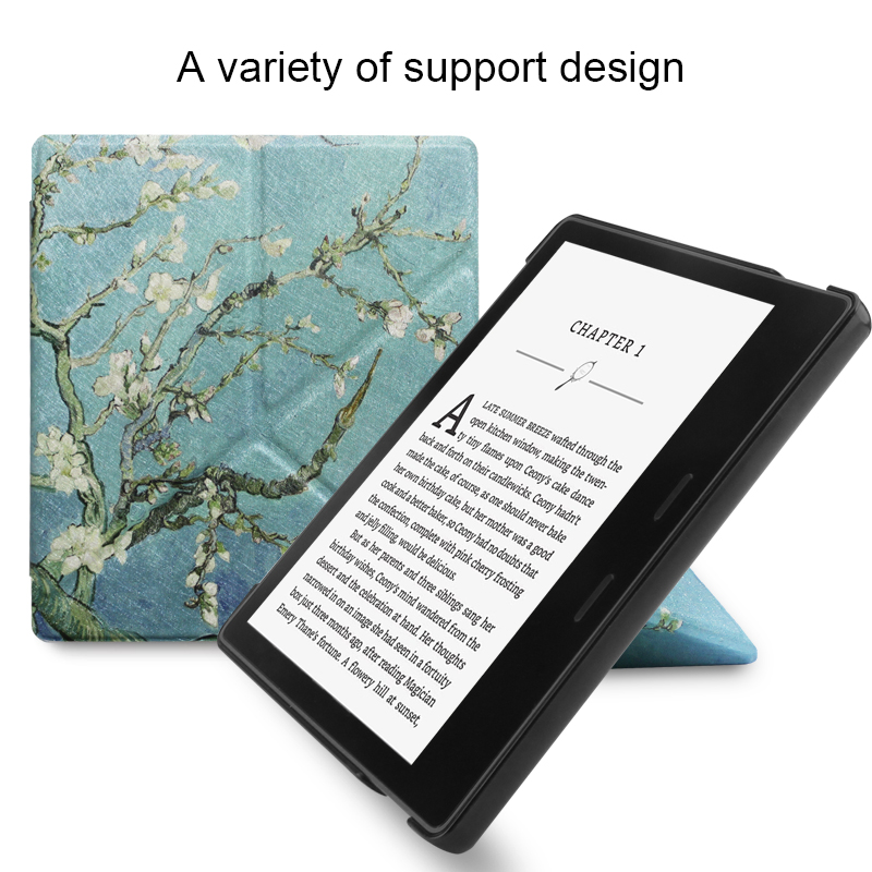 Stand Case For Amazon Kindle Oasis 7.0 2017 Case For Amazon Kindle Oasis 2017 Smart Wake Up Flip Leather Back Cover cartoon painted flower owl for kindle paperwhite 1 2 3 case flip bracket stand pu cover for amazon kindle paperwhite 1 2 3 case