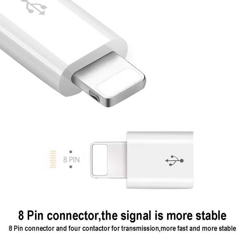 Adaptador Usb para Iphone 7 Usb a Micro Usb para Iphone X Xs X Max 6S adaptador de sincronización de datos de carga rápida para Cable Usb Ipad