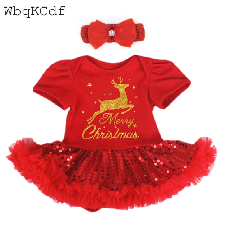 Christmas Baby Rompers Costumes For Girl Santa Claus Baby Outfits Baby Girl Clothes Newborn New Year Jumpsuit Cosplay Gifts
