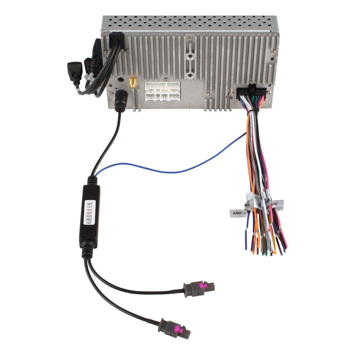 DVD GPS de Rádio Adaptador de Antena Fakra DIN Instalação Duas Maneiras Conecte O Cabo Adaptador para Audi VW BMW Benz Peugeot
