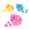 Lovely Cartoon Elephant Toy Kids Funny Clockwork Lay Egg Toy Gift Wind Up Toys for Children (Random Color)