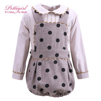 Pettigirl 6M-24M Baby Winter Clothing Set Bontique Skirts Polka Dot Kids Baby Christmas Outfit Suit G-DMCS908-911