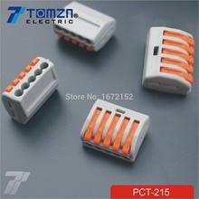 20 штук pct-215 5 Булавки Универсальный Компактный провод подключения Разъем Дирижер клеммный блок с рычагом