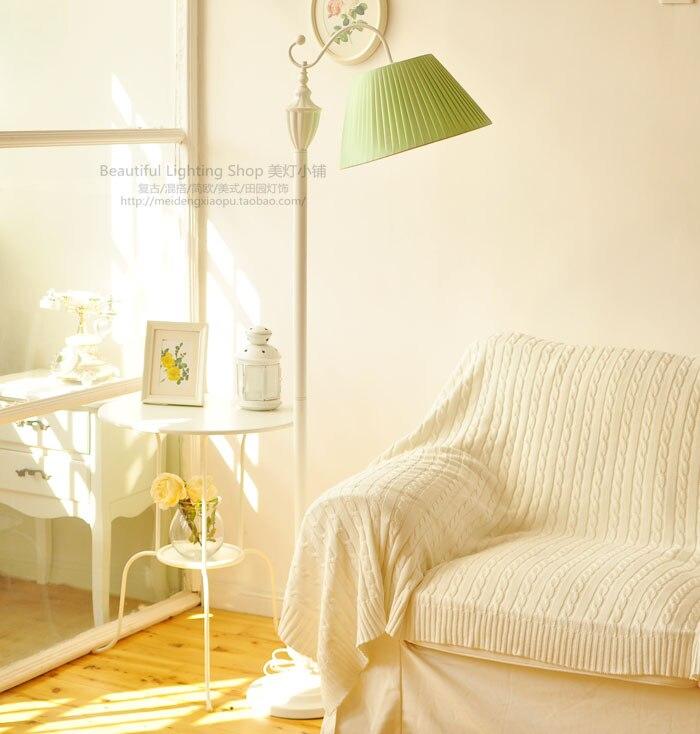 Floor lamp simple European Mediterranean garden living room decorative lamp study bedroom bedside lamp