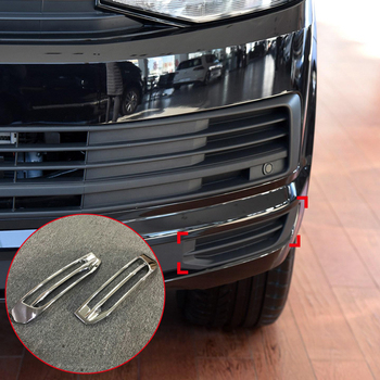For VW Volkswagen Transporter T6 2017 2018 Car front bottom grille grill Cover Trim Car Styling ABS Accessories Low Equiped grille