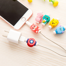 Cartoon Cable Protector Organizer Holder USB Cable Winder Cover For Apple IPhone 5 5s 6 6s 7 plus cable Protect decor de coat