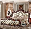 Estilo de europa 1800*2000mm doble fila de cama muebles de dormitorio marco de la cama