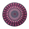 150cm Large Size Microfiber Reactive Printed Round Beach Towel Serviette De Plage Toalla Playa Beach Swim Towel S2403