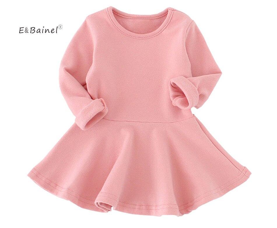 Infant Baby Dress 2017 Long Sleeve Birthday Dress Casual