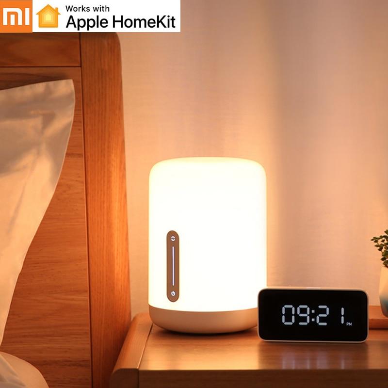Origianl Xiaomi Mijia Bedside Lamp 2 Smart Light Voice Control Touch Switch Mi home App Led bulb For Apple Homekit Siri H30|Smart Remote Control|   - AliExpress