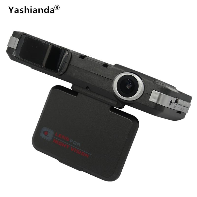 Yashianda 2 In 1 Car DVR Radar Dash Cam 140 Degree Full HD Car Dashcam Laser Video Speed Detector GPS Car Camera Record only for russian market 170 degree 2 4 car dvr e dog vgr b laser radar full band detector dvr camera speed inspection 3 in 1