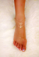 SPX5732 Trendy Unisex Rhinestone Zinc Alloy New jewellery Fashion Hot Sale Charms Chain Anchor Anklet Jewelry(Sell By One Piece)