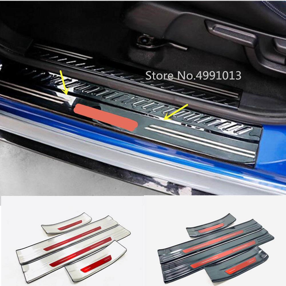 Fit for VOLVO XC60 2009-2015 Stainless steel Inner Door Sill Scuff Plate 4pcs