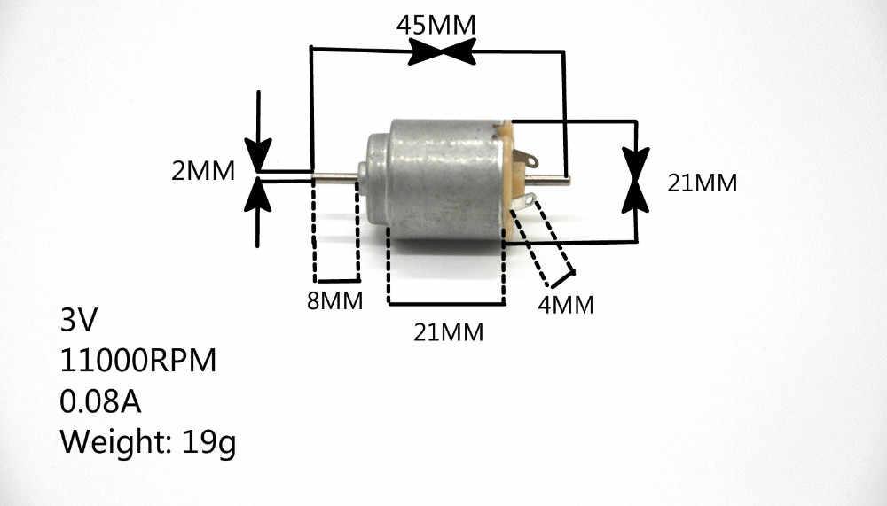 الشحن مجانا 50 قطع (DHL3-7day)/140 العاصمة المحرك 21*25mm 3 فولت 11000 دورة في الدقيقة 0.08 a 2 ملليمتر قطر المحور