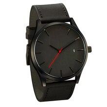Fashion Business Quartz Large Dial Watch For Men's Matte Belt Wrist Watches relojes watch strap leather