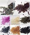 Elegir color 100 unids luster granos de la semilla de cristal checo dos hoyos súper dúo cuentas 5x2.5mm