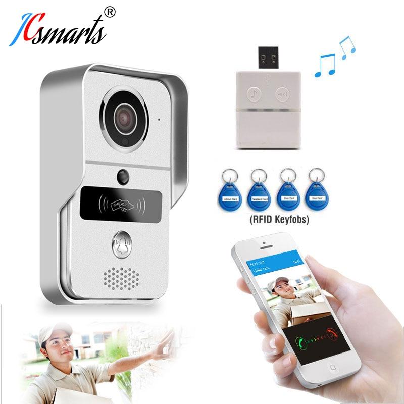 Waterproof Wifi Intercom System IP Video Door Phone Wireless Wifi Door Bell With HD Camera Call To Android/ios Phone/tablet