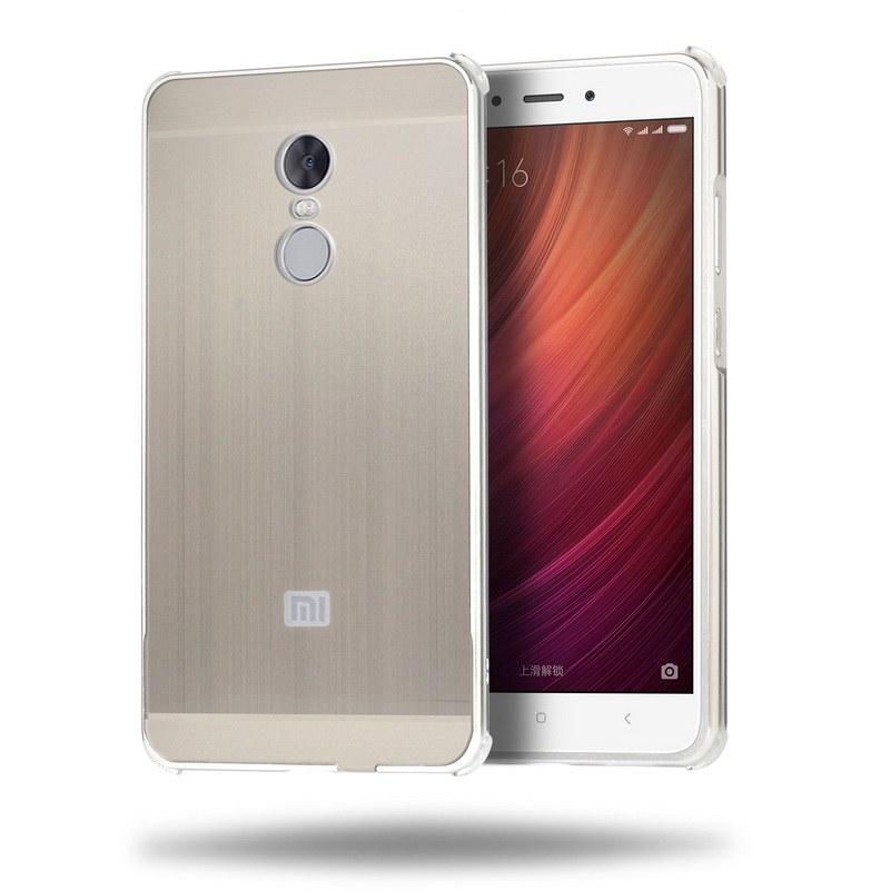 For Xiaomi Redmi Note 4X 32g Case Cover 5 5 Aluminum Metal Frame Brushed PC Acrylic