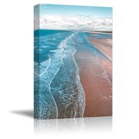 Canvas Wall Art Pink Sand Beach Wave Ocean Painting Artwork for Home Prints Drop shipping