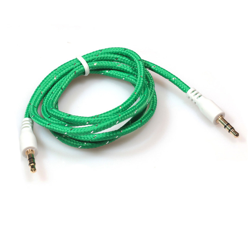 1pc 3.5mm Stereo Car Auxiliary Audio Cable Male To Male for Smart Phone A8