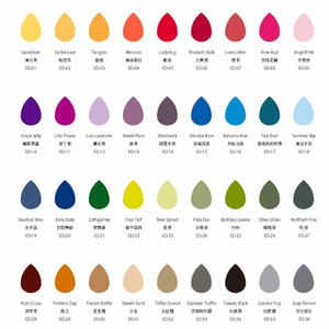 Image 2 - Almohadillas de tinta para decoración del hogar, cojín para sello, sin ácidos, 36 colores