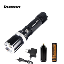 LOMOM CREE LED Torches 3000LM Aluminum Zoomable LED Flashlight Torch Lamp For 3XAAA or 18650 Battery Set