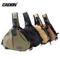 Caden Shoulder Camera Bags Backpack Men Women Orange Black Khaki Digital Camera Sling Canvas Soft Bag