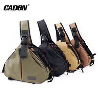 Caden Shoulder Camera Bags Backpack Men Women Orange Black Khaki Digital Camera Sling Canvas Soft Bag