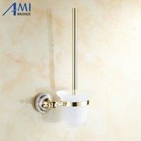 Antique/Gold Toilet Brush Holders Bathroom Accessories hardwares toilet vanity 7008