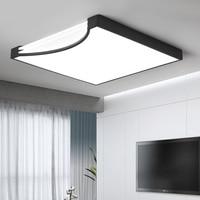 Square White Black Modern Led High Quality Ceiling Lights For Living Study Bedroom Kids Room Ultra