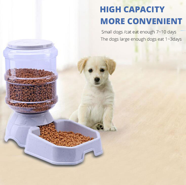 3.8L Pet Automatic Feeder Drinking Bowl 1