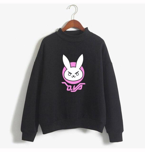 Kawaii mignon regarder sur personnage DVA lapin LogoHoodies DVA Harajuku dessin animé Kpop sweat D. VA polaire Style coréen 214