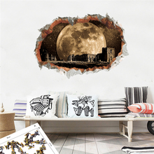 3d Vivid Hole Outer Space Wall Stickers Bedroom Home Decor Science Dream Landscape Decals Pvc Mural Art Diy