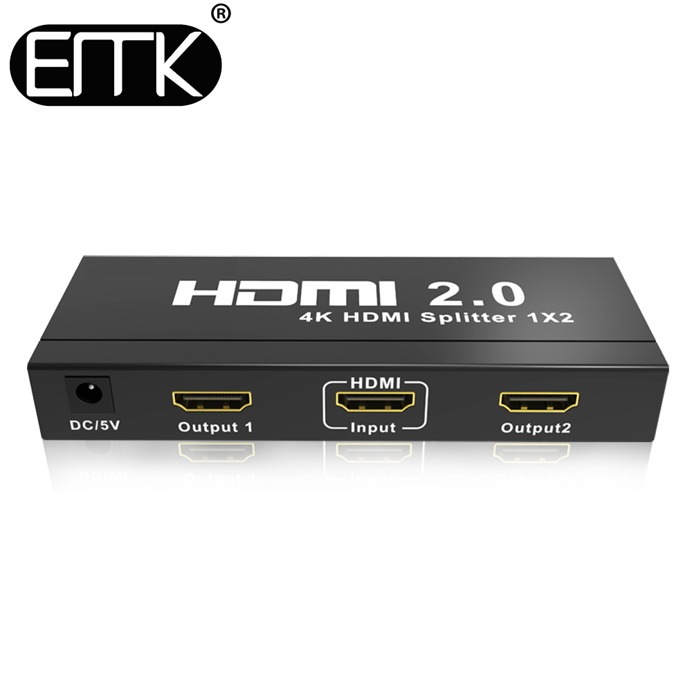 EMK 4K HDMI Splitter 1 input 2 output 2 0 HDMI Switch adapter 1x2 Supply Support