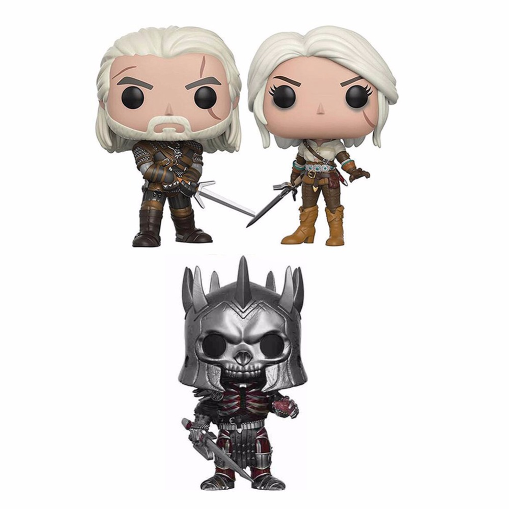 Funko Pop The Witcher GERALT & CIRI & EREDIN 10cm VINYL Action Figure Collection Model Toys