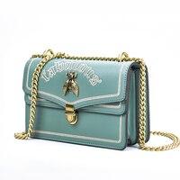 Fashion women's Chain Shoulder Messenger Bags Bee Designer Women Clutch Handbags Embroidery Letter Crossbody Purse