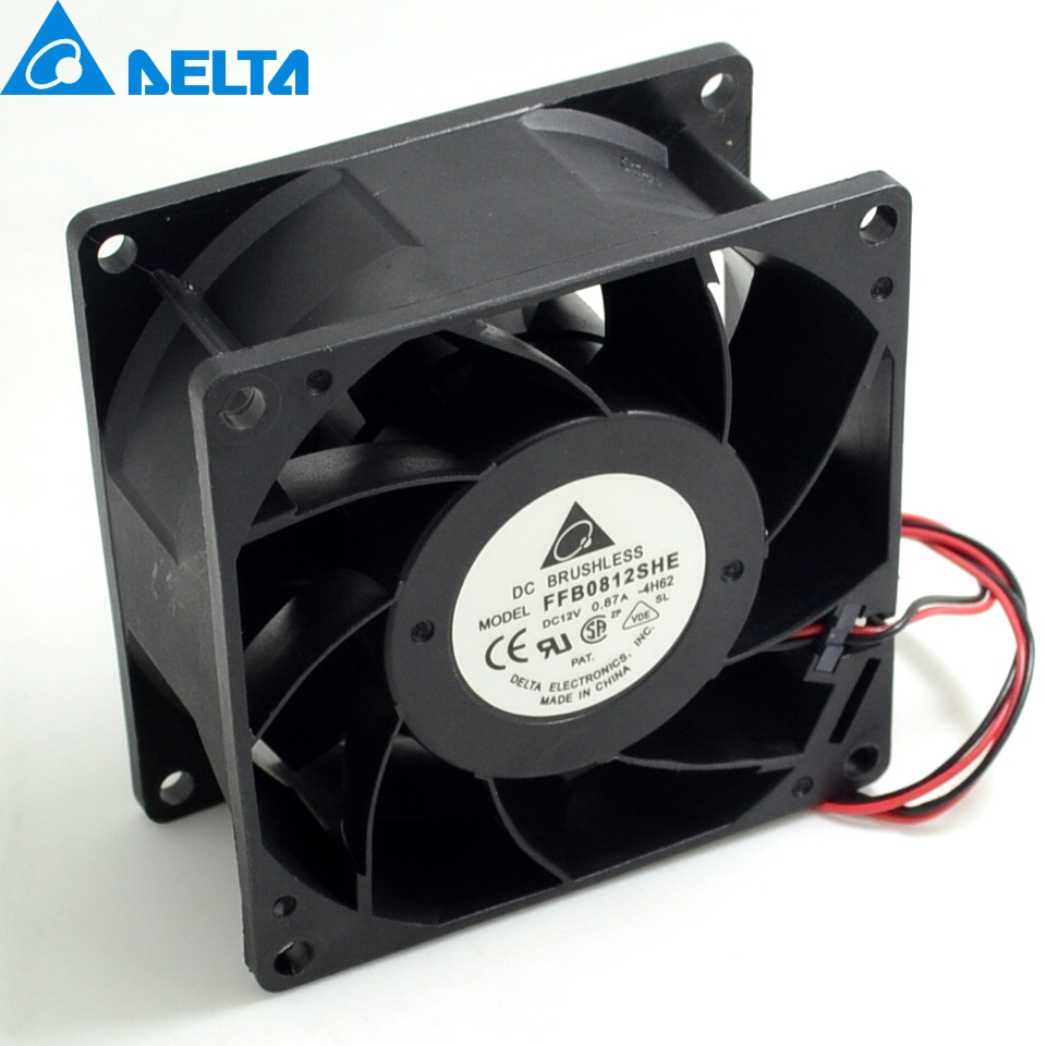 for  Delta FFB0812EHE 8038 12V 1.35A 8CM 3-line violence double ball fan