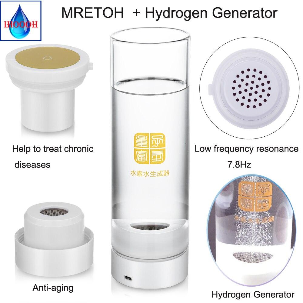 Generator wody hydrogenicznej + MRET OH 7.8Hz wody alkalicznej ekspres do akumulator przenośny jonizator wody linia USB H2 kubek wody
