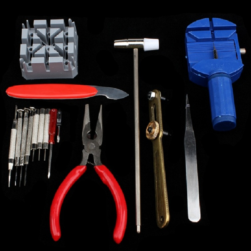 Watch Replace Kit New Battery Change Tool Repair Set 16PCS Pin Strap Remover Tool for Watch Adjuster relojero Free Shipping free shipping 1 set three eyes plastic watch oil holder watch repair tool unbranded generic