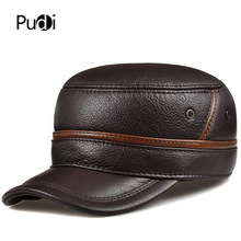 HL101  genuine leather men baseball cap hat CBD high quality  men's real leather adult solid adjustable hats caps цена в Москве и Питере