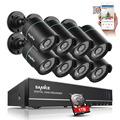 SANNCE 8CH Security Camera System 1080N DVR Reorder with 1TB Hard Drive and (8) HD 1280TVL Outdoor CCTV Cameras