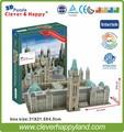 Умный и счастливый 3d головоломки модель Здания Парламента Канады ребенка развивающие игрушки взрослых головоломка модель игры для детей