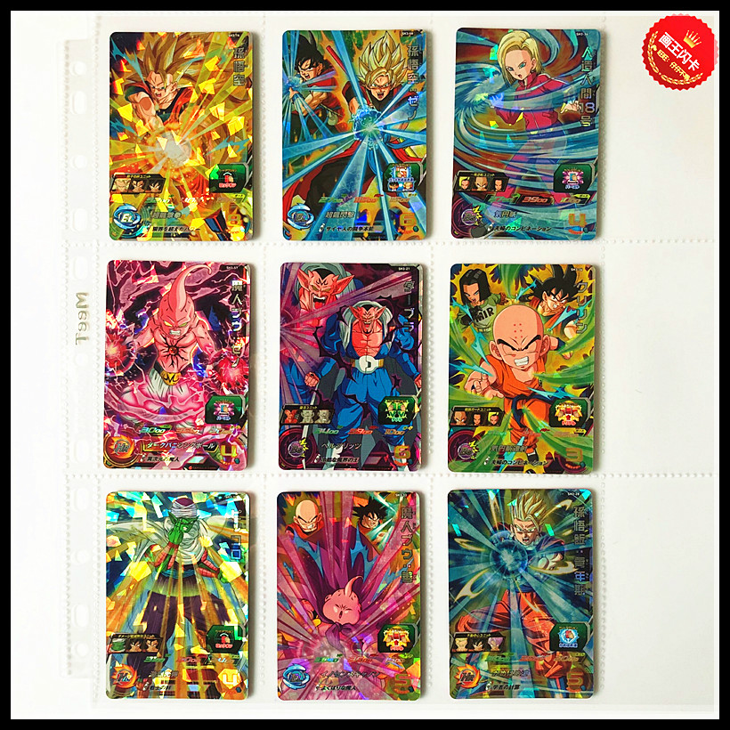 Japan Original Dragon Ball Hero Card SR Flash 3 Stars SH3 Goku Toys Hobbies Collectibles Game Collection Anime Cards