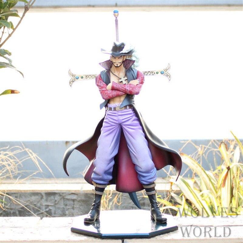 Japanese anime 1pcs One piece Dracule Mihawk pvc figure toys tall 22cm.1pcs Mihawk pvc doll supply Free shipping