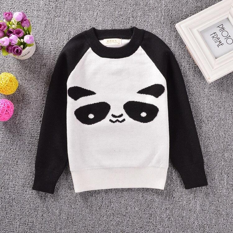 US $16.62 5% OFF Fashion neuen stil herbst Europa kinder panda muster pullover langarm kleidung baby baumwolle knitting top in Pullover aus Mutter und